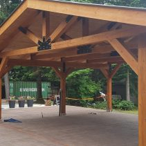 ROUGH TIMBER PATIO COVER